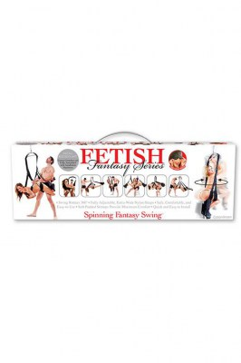 Секс-качели подвешивающиеся на дверь Fetish Fantasy Series Spinning Fantasy Swing - Black черные
