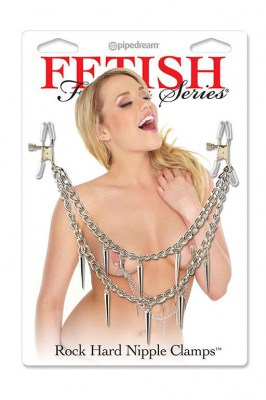 Зажимы на соски Fetish Fantasy Series Rock Hard Nipple Clamps - Silver